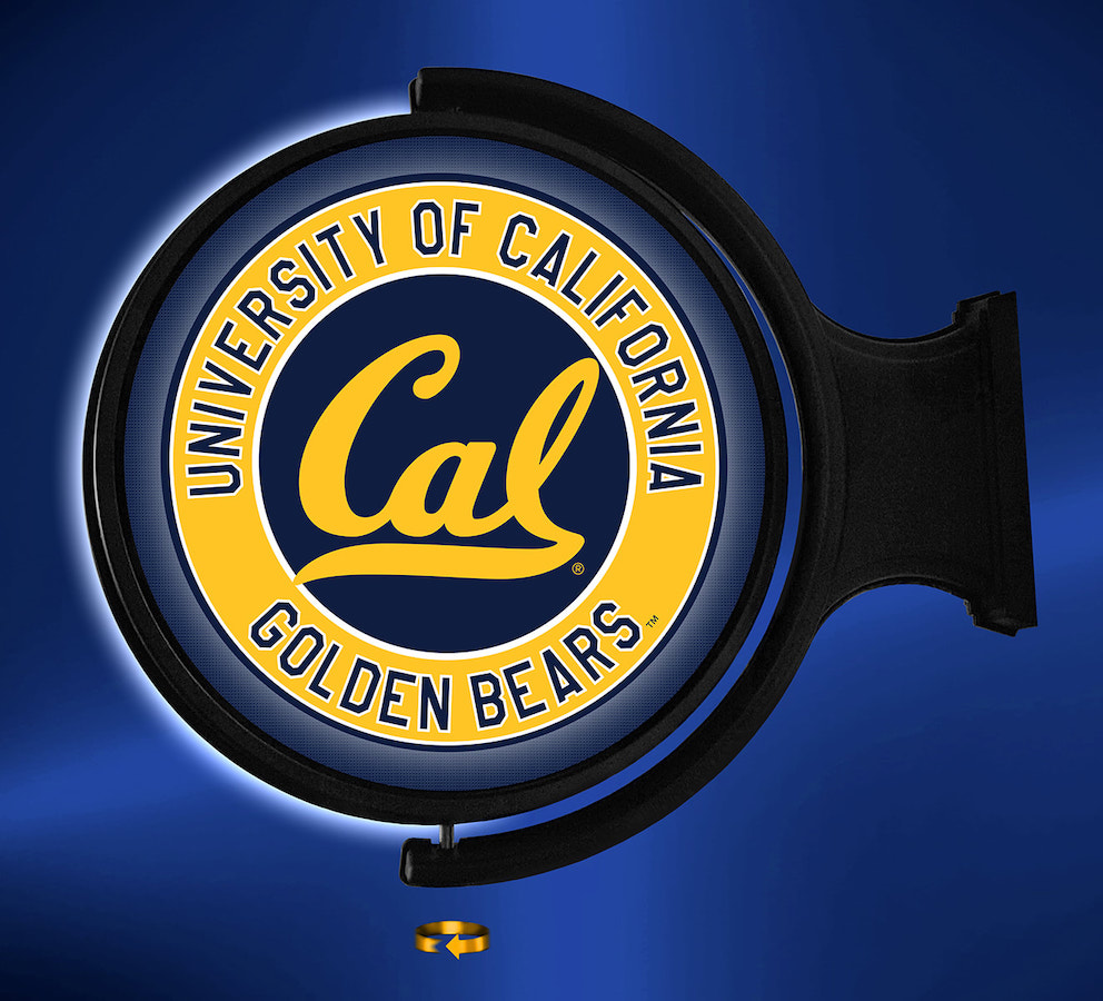 California Golden Bears LED Rotating Wall Sign ~ WORD