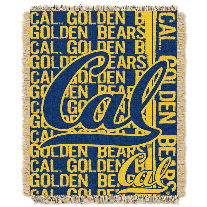 California Golden Bears Double Play Tapestry Blanket 48 x 60