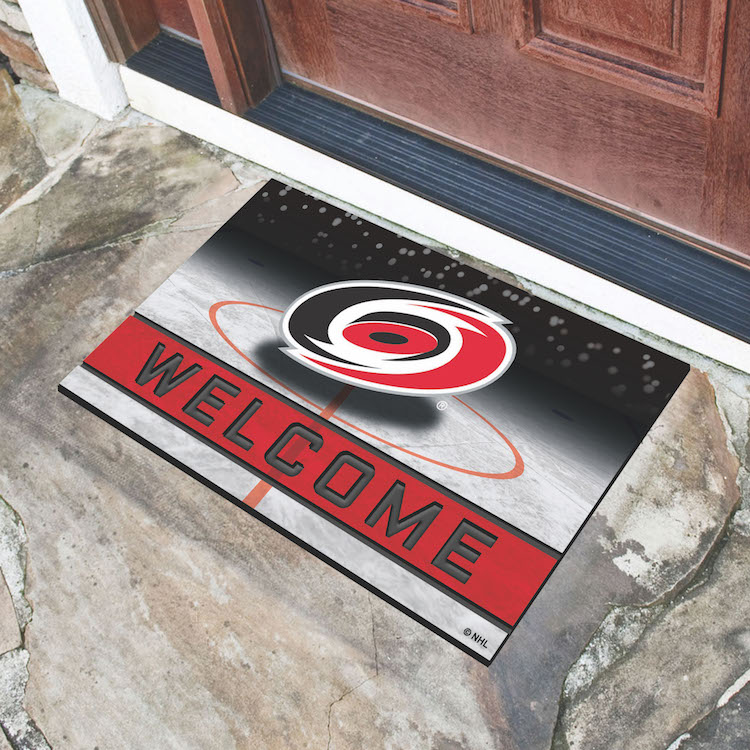 Carolina Hurricanes Recycled Crumb Rubber Door Mat