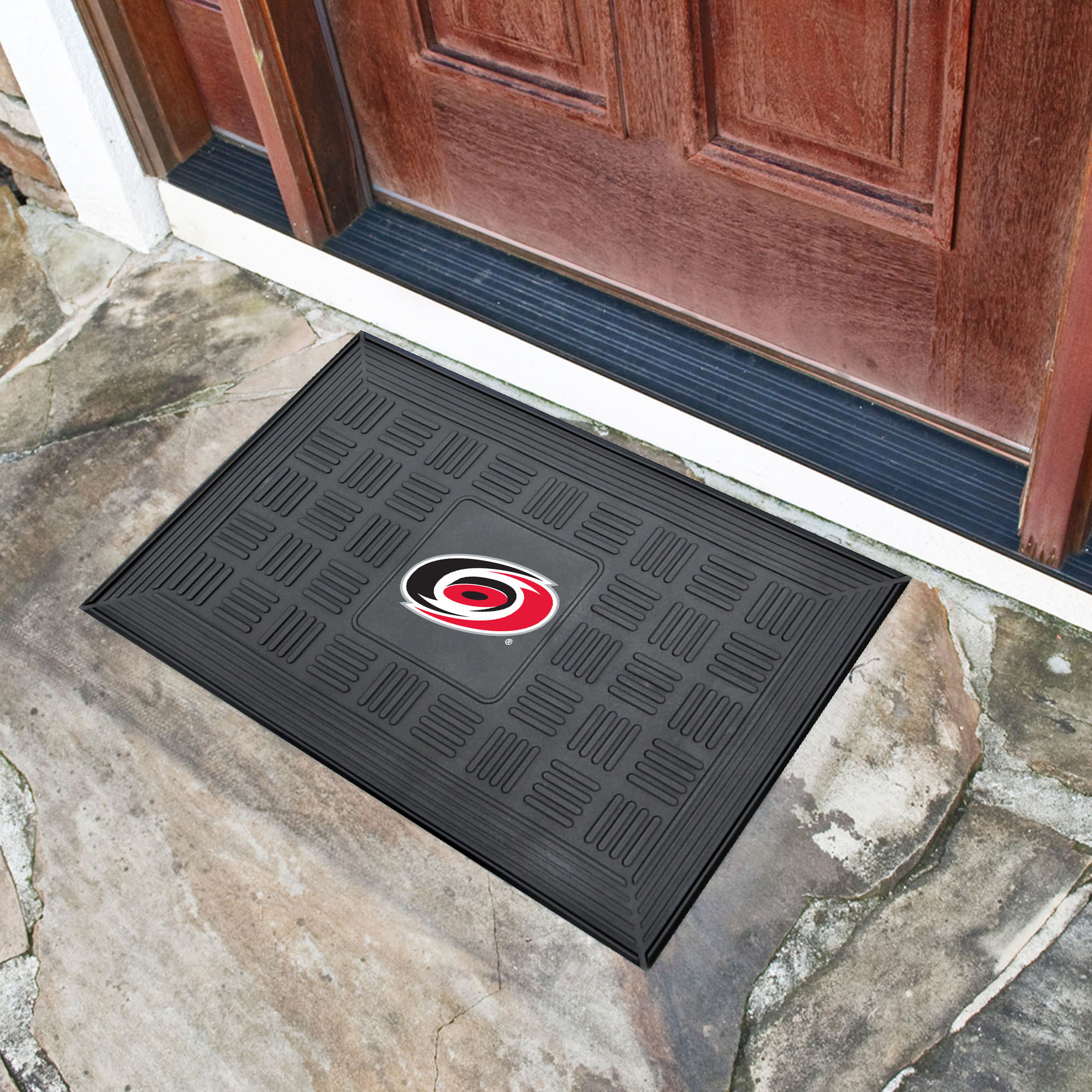 Carolina Hurricanes MEDALLION Vinyl Door Mat