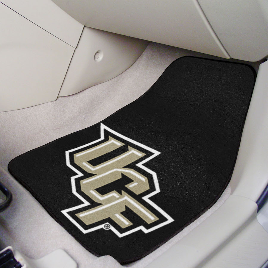 Central Florida Knights Car Floor Mats 18 x 27 Carpeted-Pair