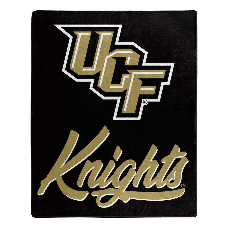 Central Florida Knights Plush Fleece Raschel Blanket 50 x 60