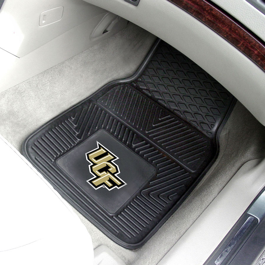 Central Florida Knights Car Floor Mats 18 x 27 Heavy Duty Vinyl Pair