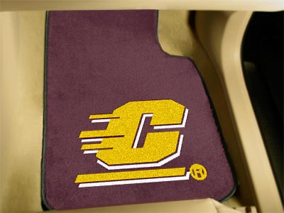 Central Michigan Chippewas Car Floor Mats 18 x 27 Carpeted-Pair