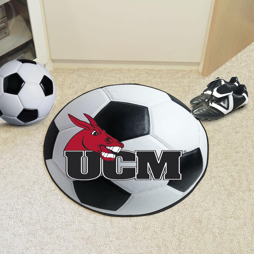 Central Missouri Mules Soccer Ball Floor Mat