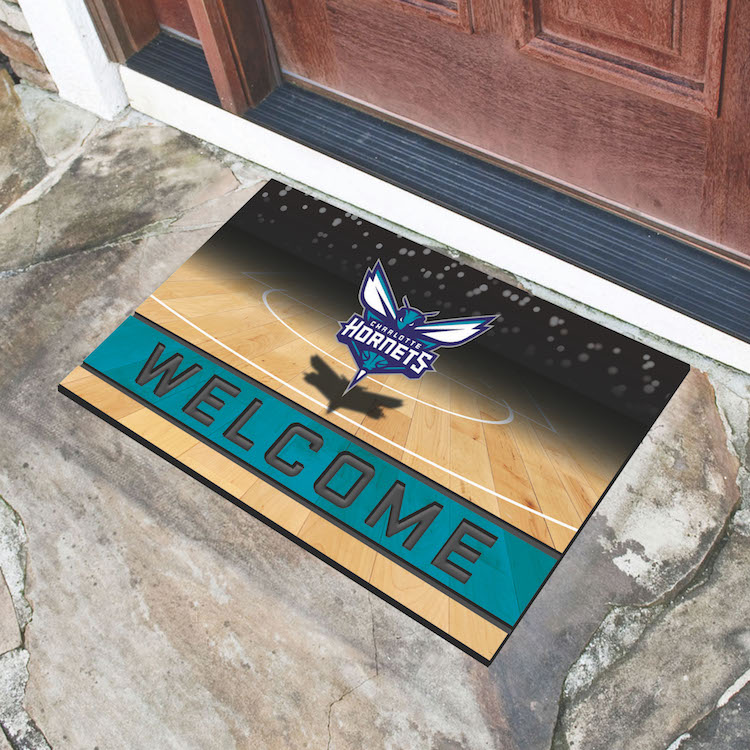 Charlotte Hornets Recycled Crumb Rubber Door Mat