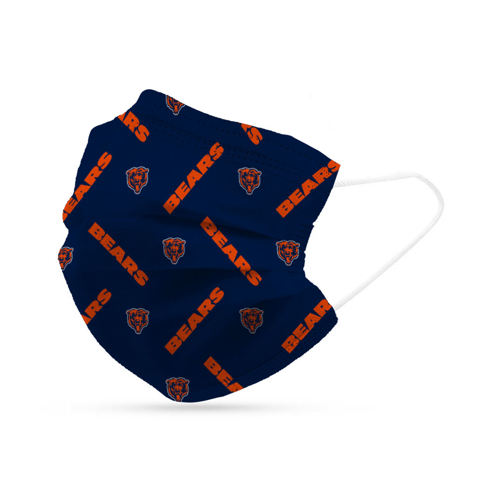 Chicago Bears Disposable Face Covering Masks (pk of 6)