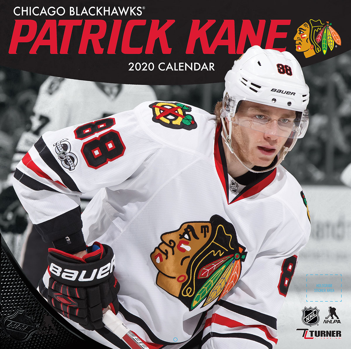 Chicago Blackhawks Patrick Kane 2020 NHL Wall Calendar