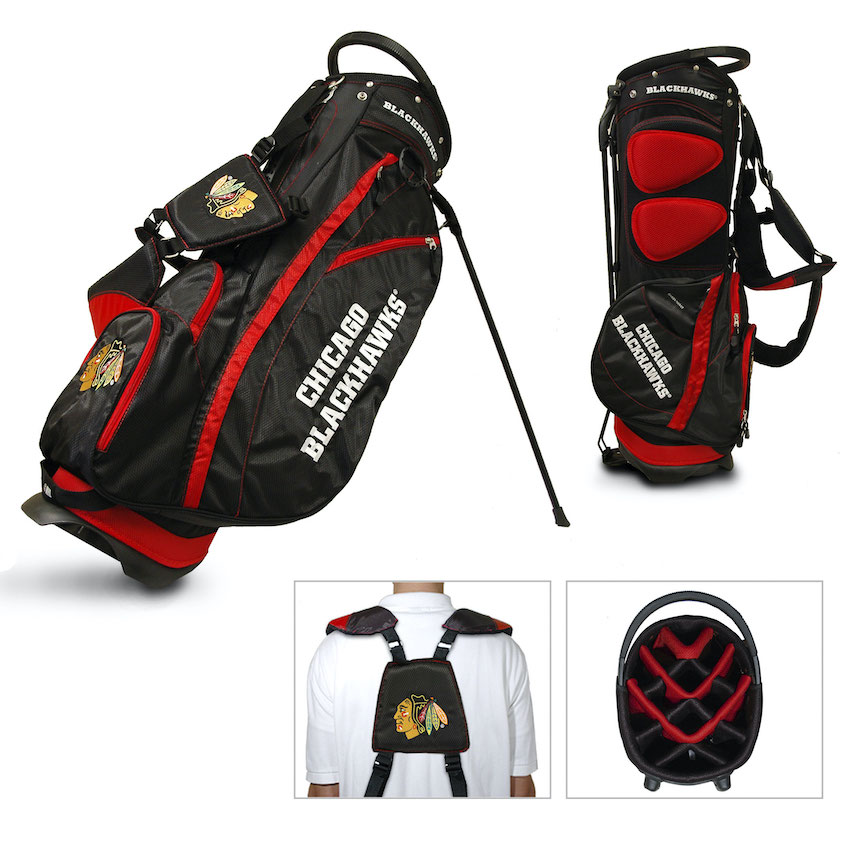 Chicago Blackhawks Fairway Carry Stand Golf Bag