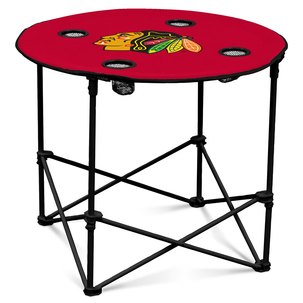 Chicago Blackhawks Round Tailgate Table