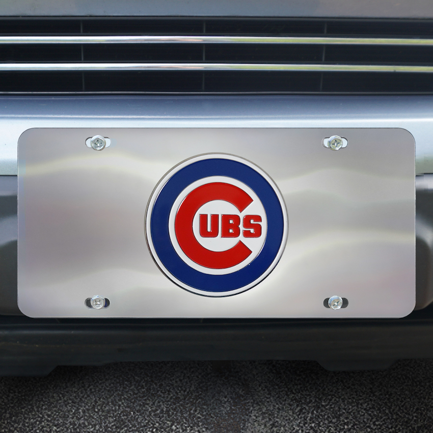 Chicago Cubs Stainless Steel Die-cast License Plate