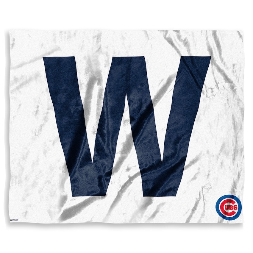 Chicago Cubs FLY THE W Silk Touch Throw Blanket 50 x 60