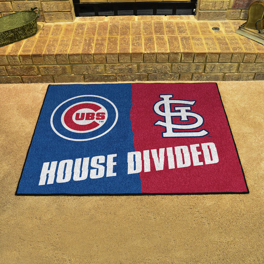 MLB House Divided Rivalry Rug Chicago Cubs - St. Louis Cardinals