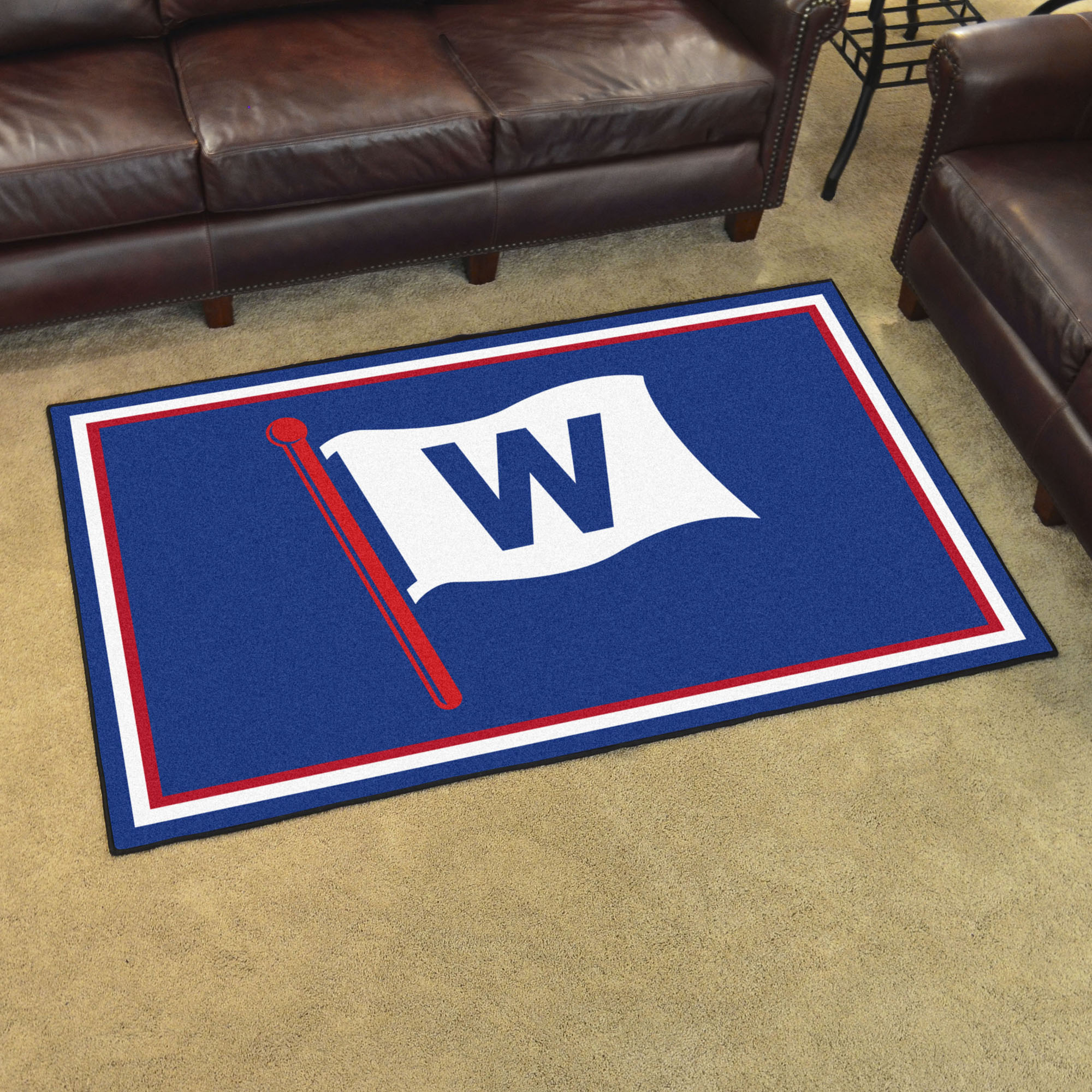 Chicago Cubs FLY THE W 4x6 Area Rug