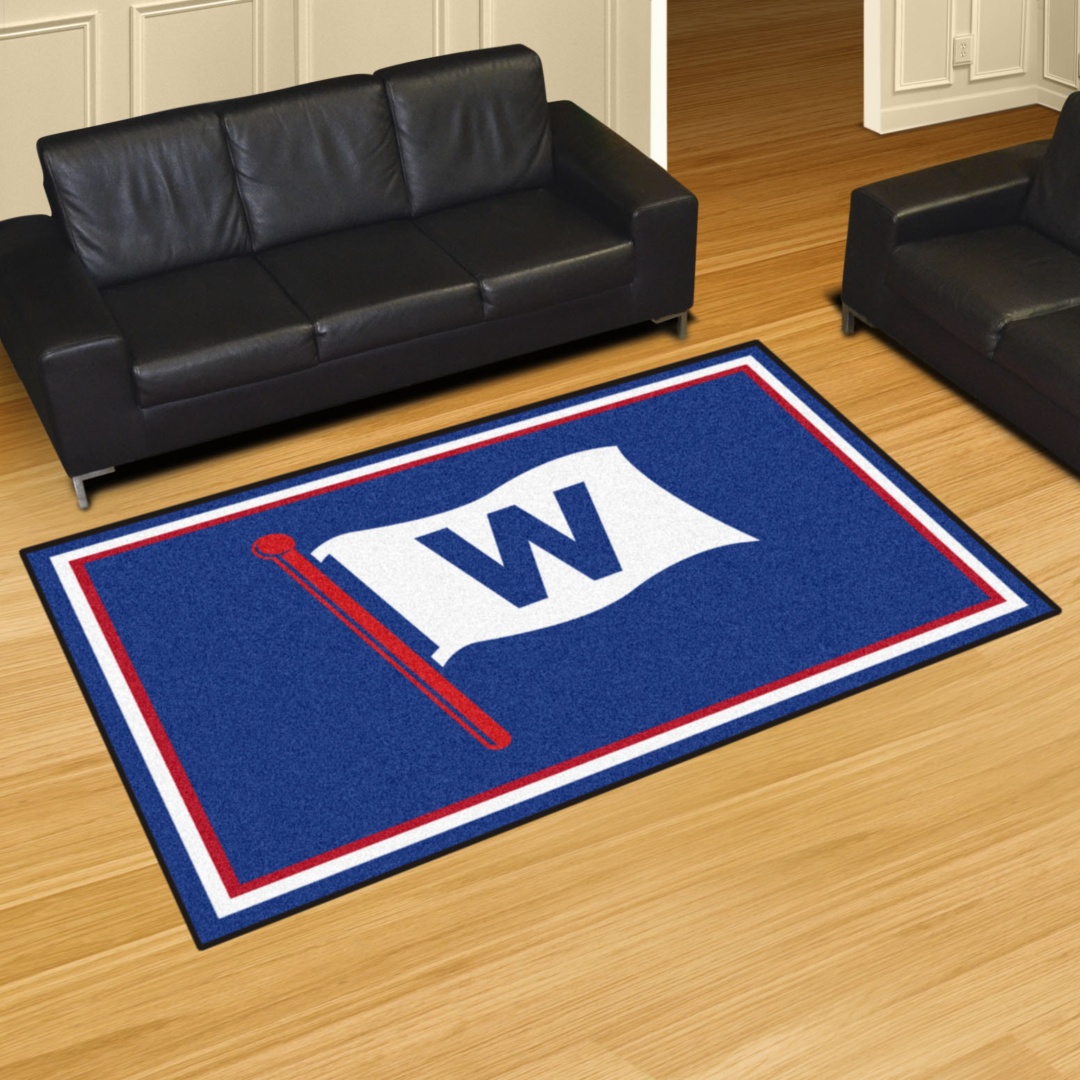 Chicago Cubs FLY THE W 5x8 Area Rug