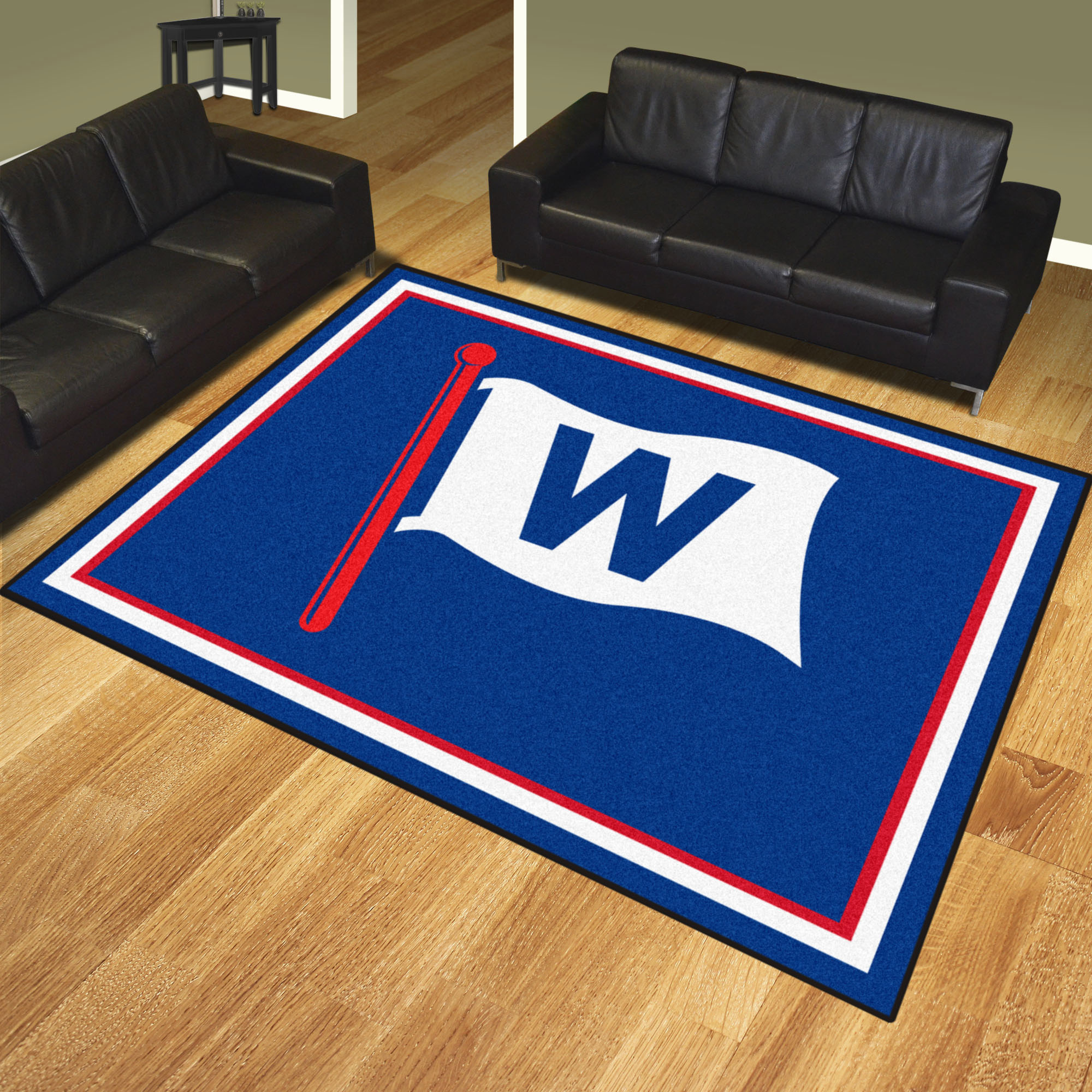 Chicago Cubs FLY THE W Ultra Plush 8x10 Area Rug