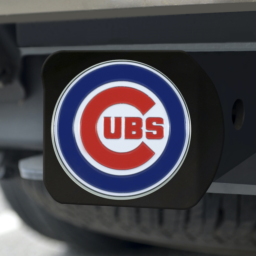 Chicago Cubs Black and Color Trailer Hitch Cover