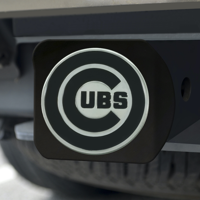 Chicago Cubs BLACK Trailer Hitch Cover