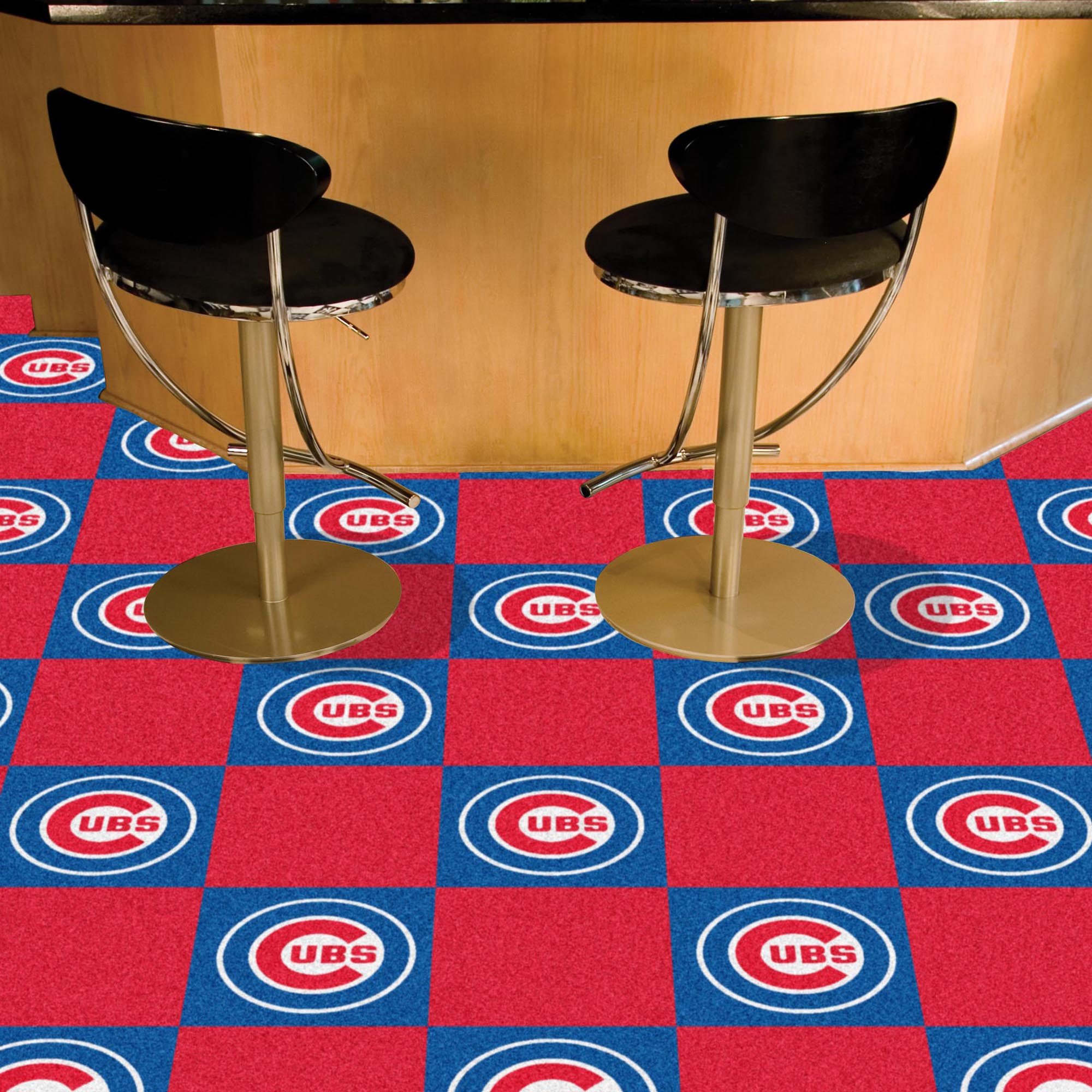 Chicago Cubs Carpet Tiles 18x18 in.