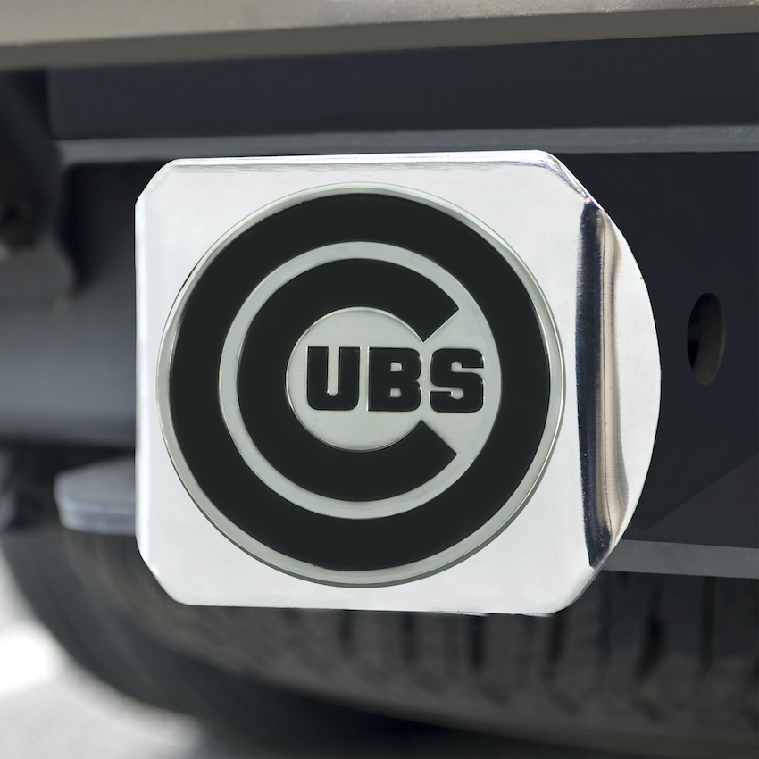 Chicago Cubs Chrome Trailer Hitch Cover