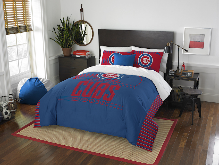 Chicago Cubs QUEEN/FULL size Comforter and 2 Shams