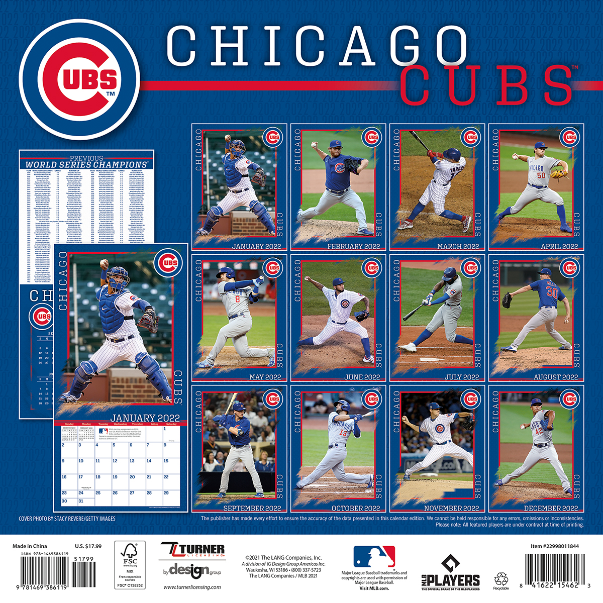 Chicago Cubs 2019 Wall Calendar - Buy at KHC Sports