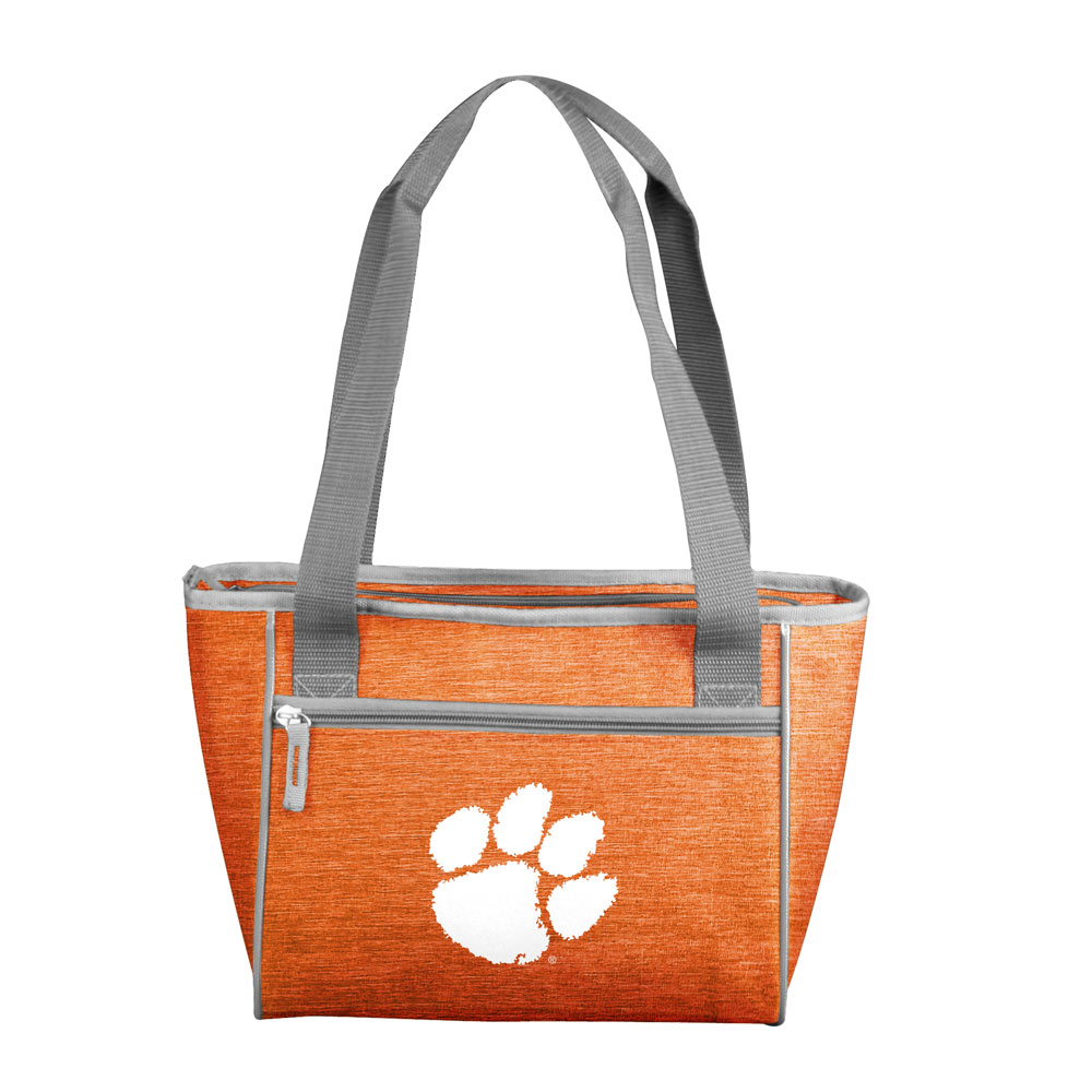 Clemson Tigers Crosshatch 16 Can Cooler Tote