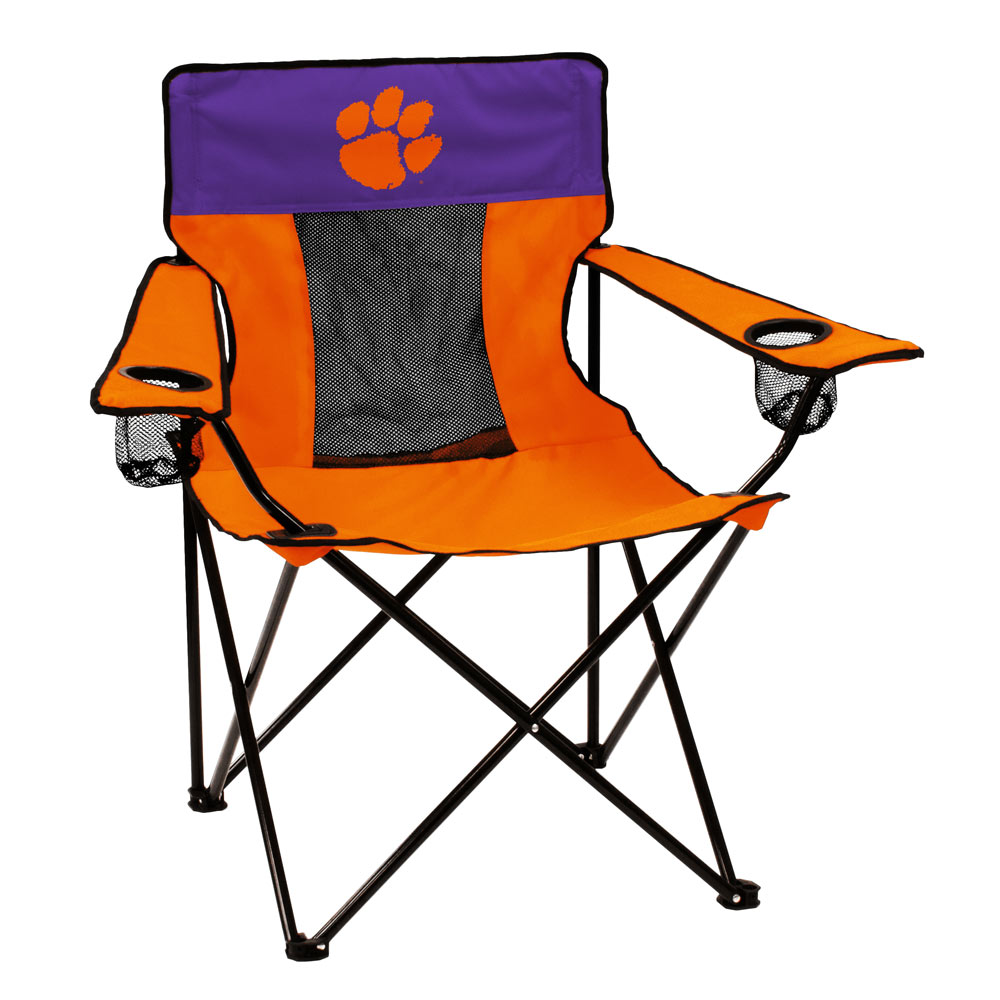 Clemson Tigers ELITE logo folding camp style chair