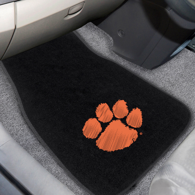 Clemson Tigers Car Floor Mats 17 x 26 Embroidered Pair