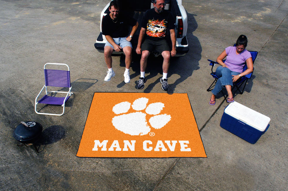 Clemson Tigers MAN CAVE TAILGATER 60 x 72 Rug