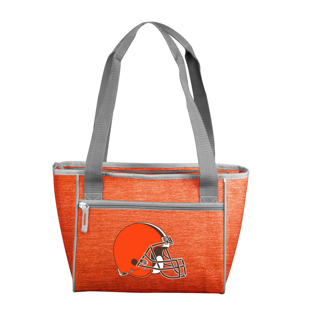 Cleveland Browns Crosshatch 16 Can Cooler Tote