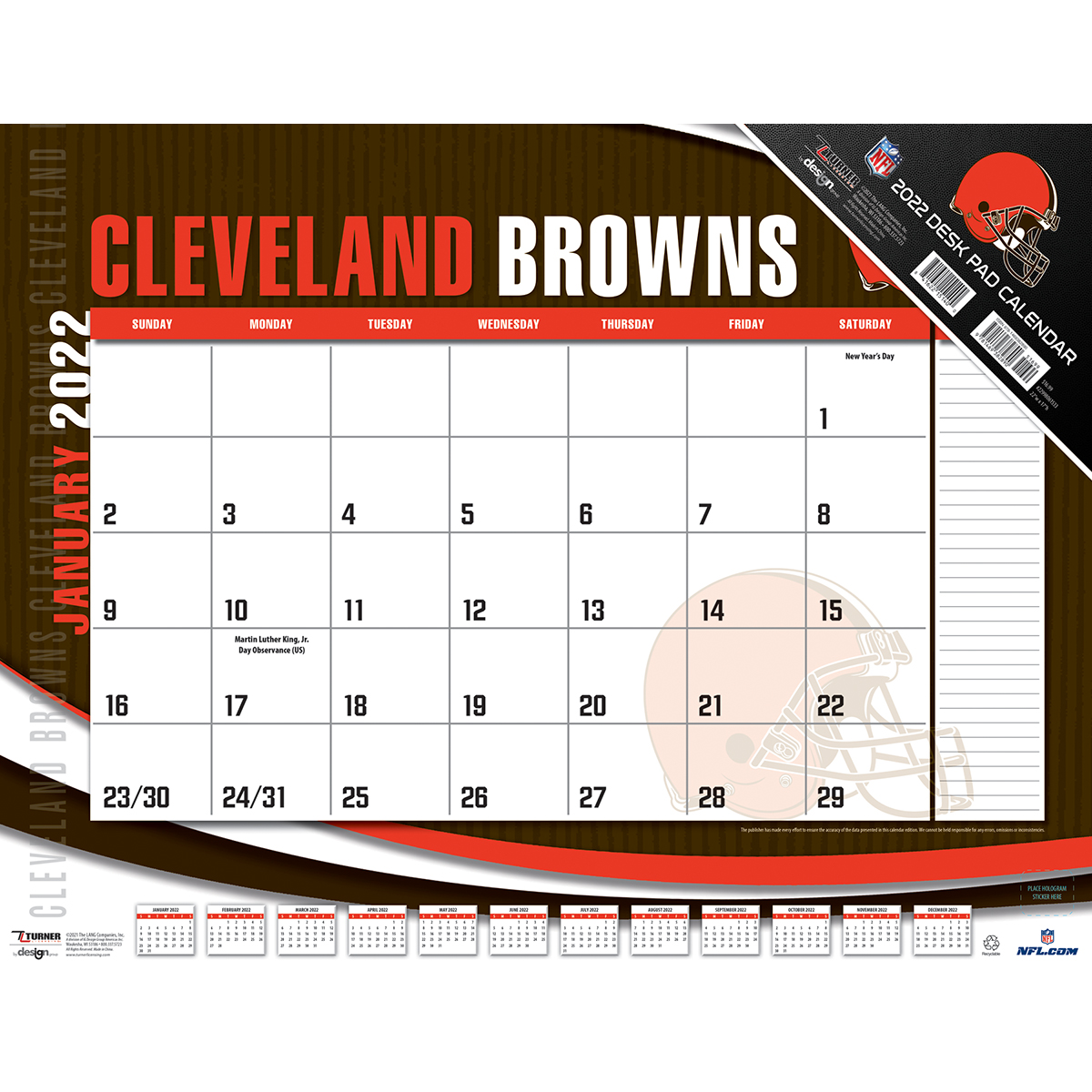 Browns Schedule 2020.Cleveland Browns 2020 Nfl 22 X 17 Desk Calendar Buy At Khc Sports