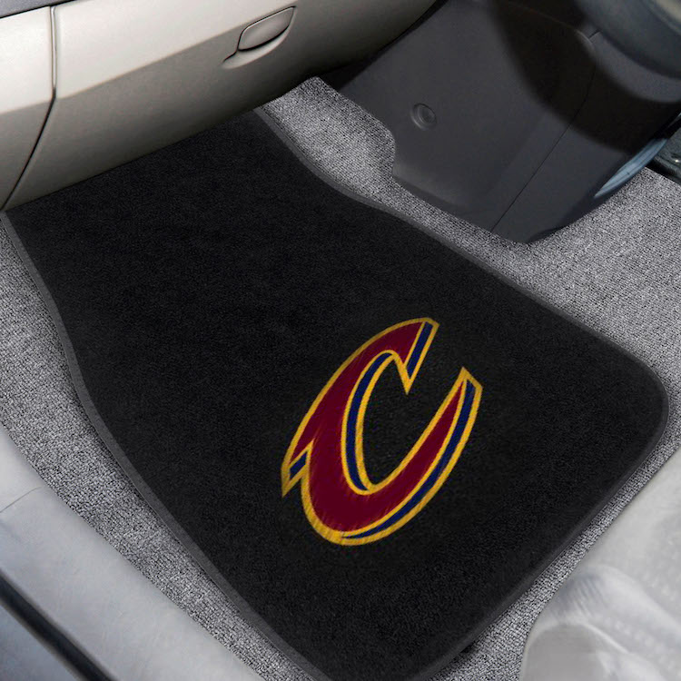 Cleveland Cavaliers Car Floor Mats 17 x 26 Embroidered Pair