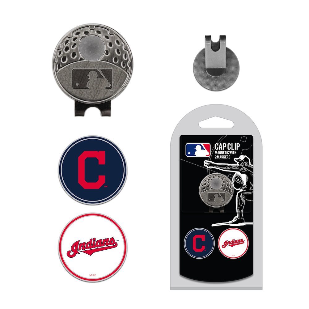 Cleveland Indians Hat Clip With 2 Ball Markers