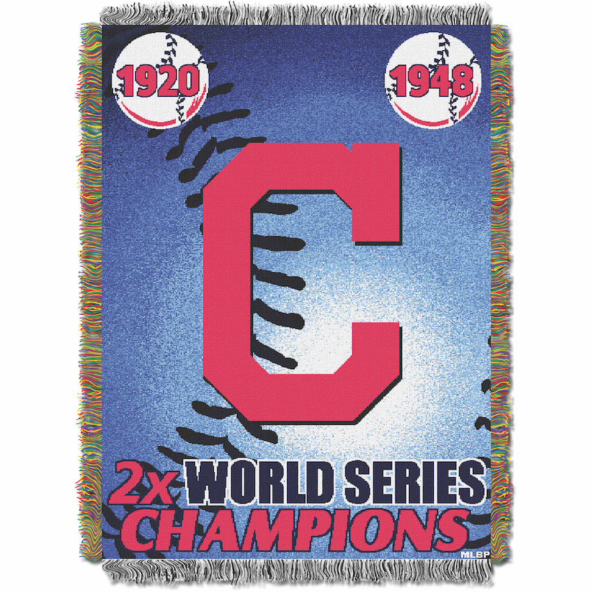 Cleveland Indians Commemorative World Series Tapestry Throw