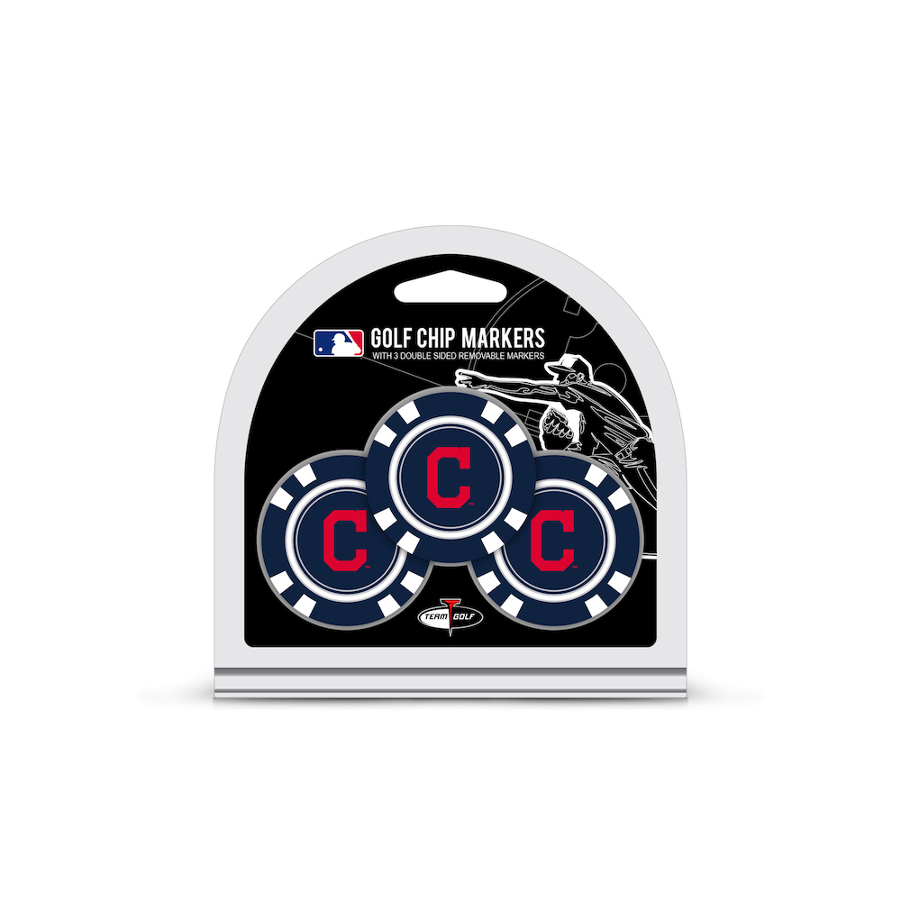 Cleveland Indians 3 Pack Golf Chips