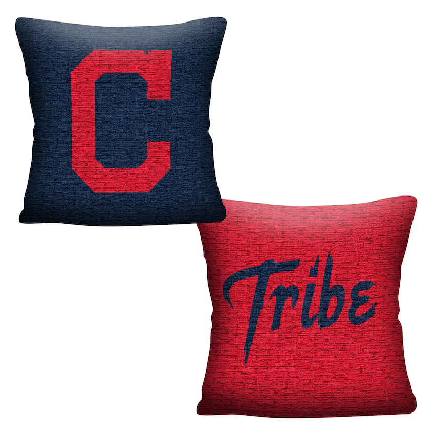 Cleveland Indians Double Sided INVERT Woven Pillow