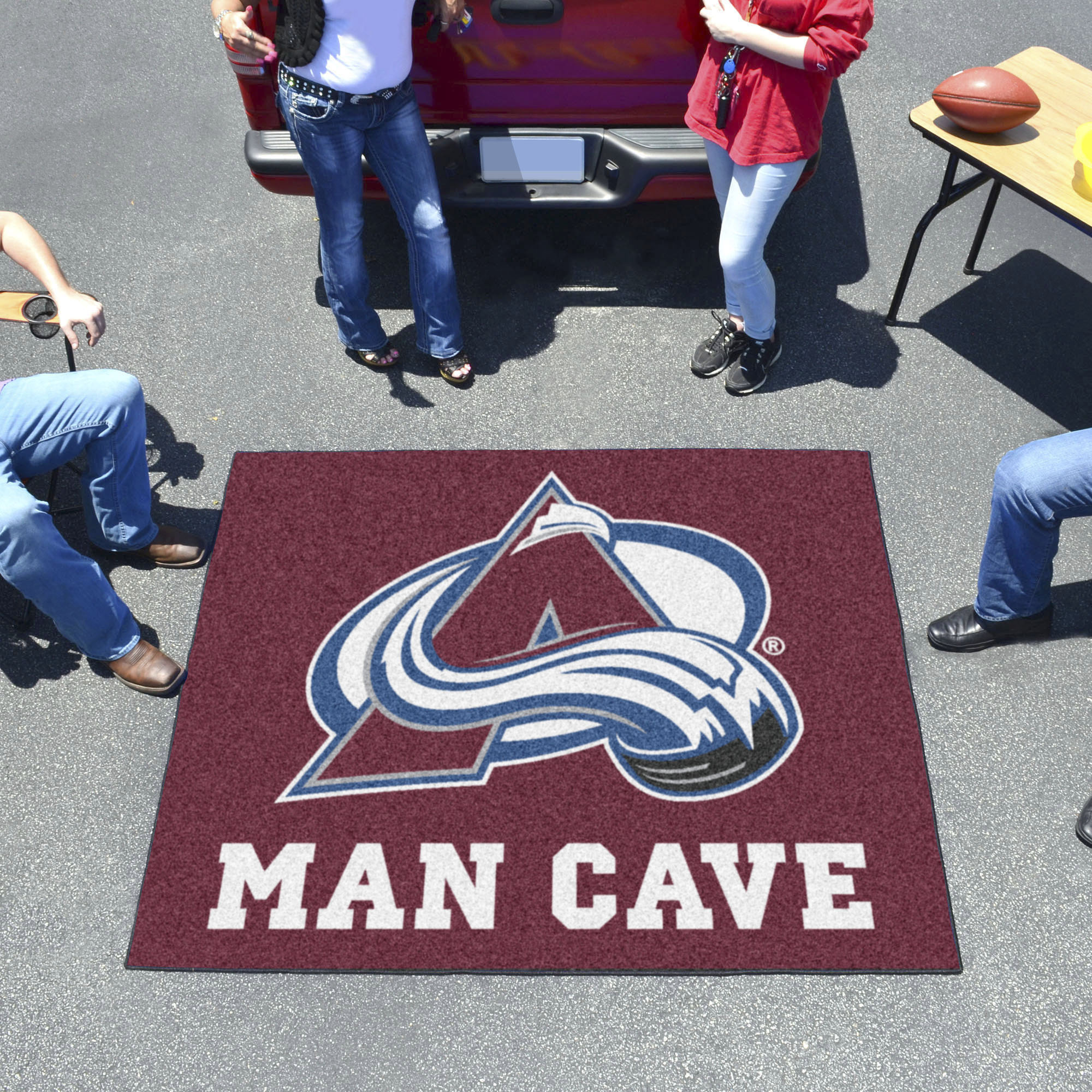 Colorado Avalanche MAN CAVE TAILGATER 60 x 72 Rug