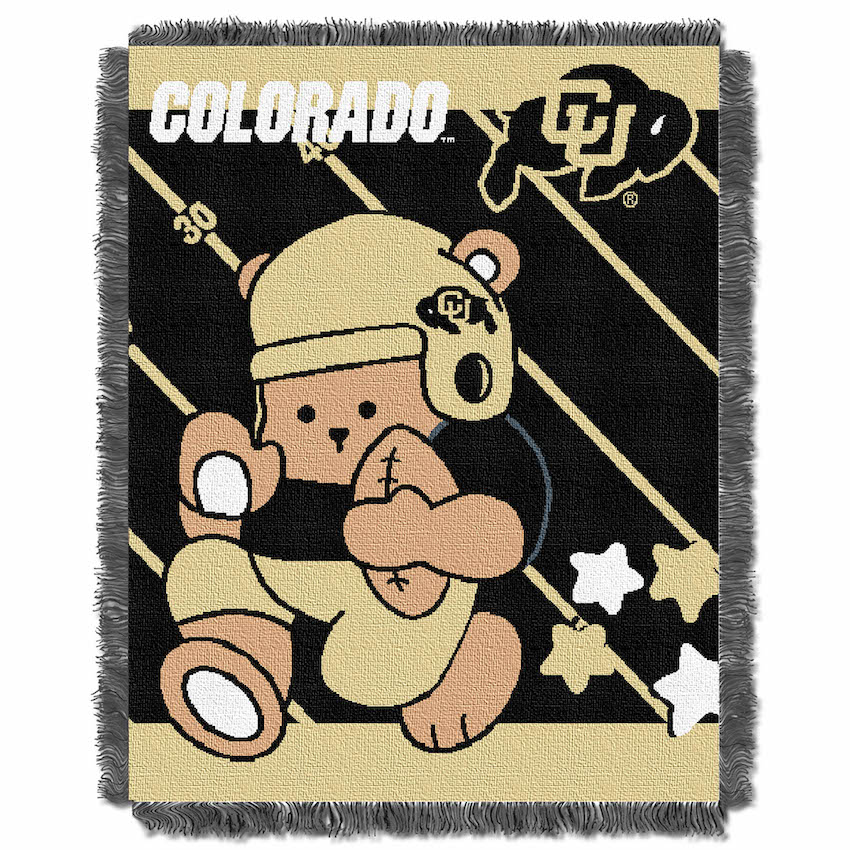 Colorado Buffaloes Woven Baby Blanket 36 x 48