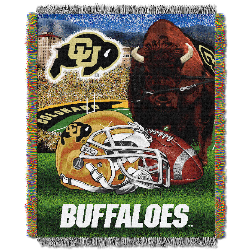 Colorado Buffaloes Home Field Advantage Series Tapestry Blanket 48 x 60