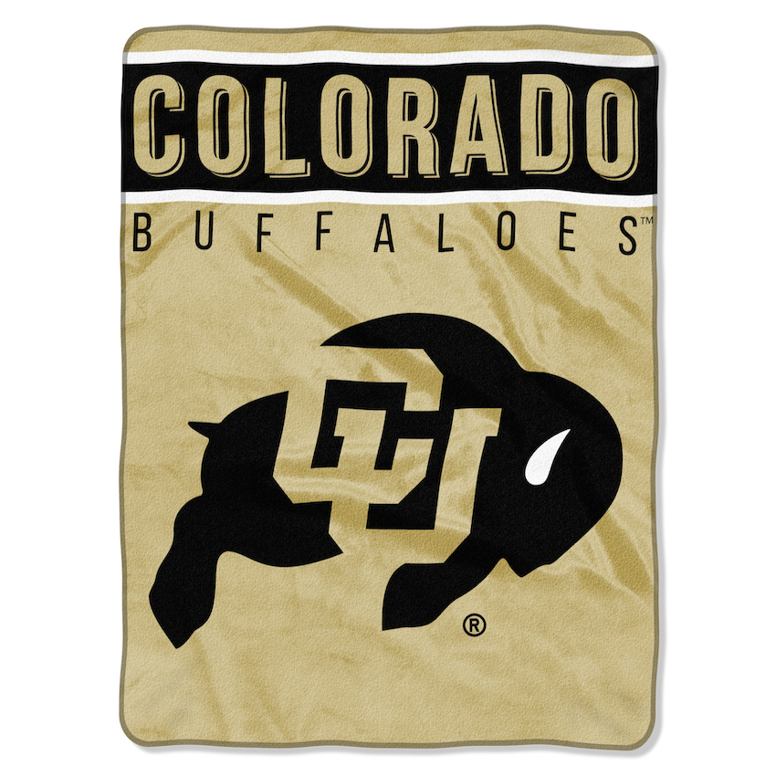 Colorado Buffaloes Large Plush Fleece OVERTIME 60 x 80 Blanket