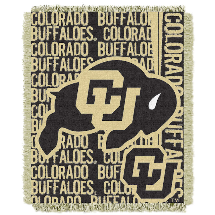 Colorado Buffaloes Double Play Tapestry Blanket 48 x 60