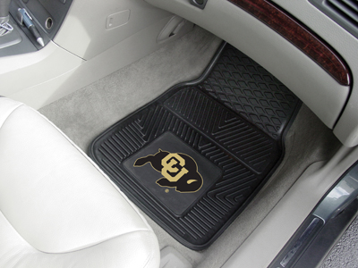 Colorado Buffaloes Car Floor Mats 18 x 27 Heavy Duty Vinyl Pair