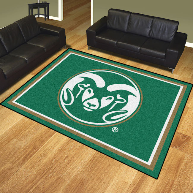 Colorado State Rams Ultra Plush 8x10 Area Rug