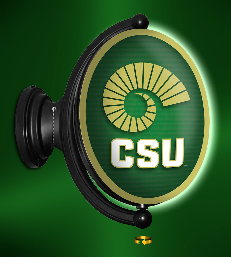 Colorado State Rams LED Rotating Wall Sign ~ OVAL CSU