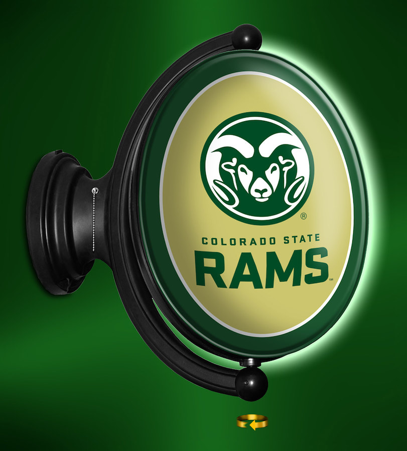 Colorado State Rams LED Rotating Wall Sign ~ OVAL RAM
