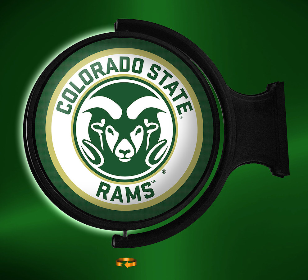 Colorado State Rams LED Rotating Wall Sign ~ PL