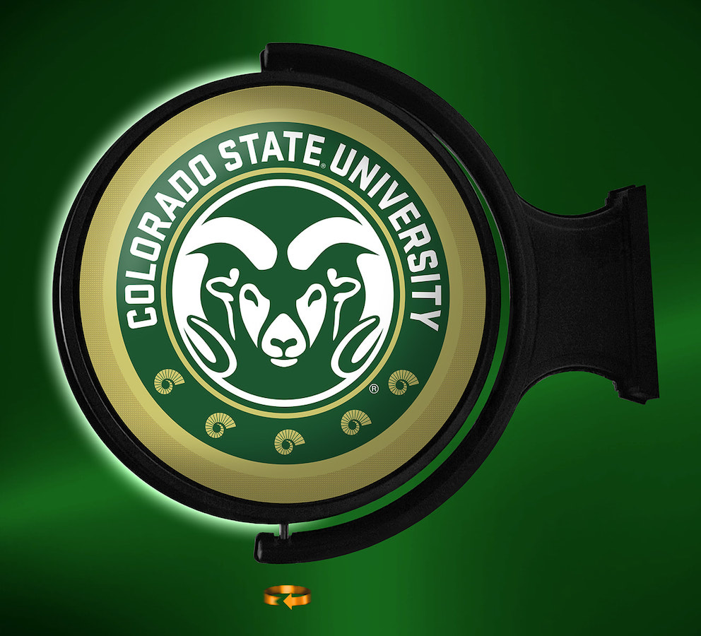 Colorado State Rams LED Rotating Wall Sign ~ PLG