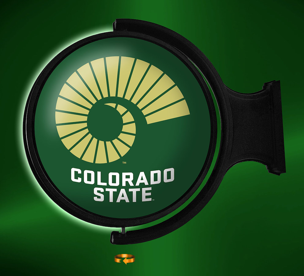 Colorado State Rams LED Rotating Wall Sign ~ SL