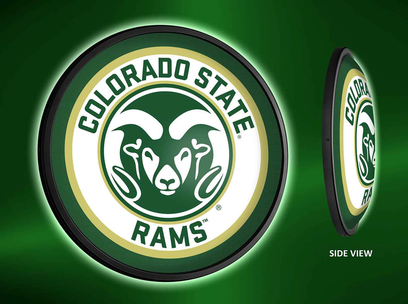 Colorado State Rams Slimline LED Wall Sign ~ PRIMARY
